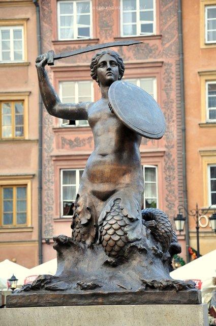 символ Варшавы - русалка Польша