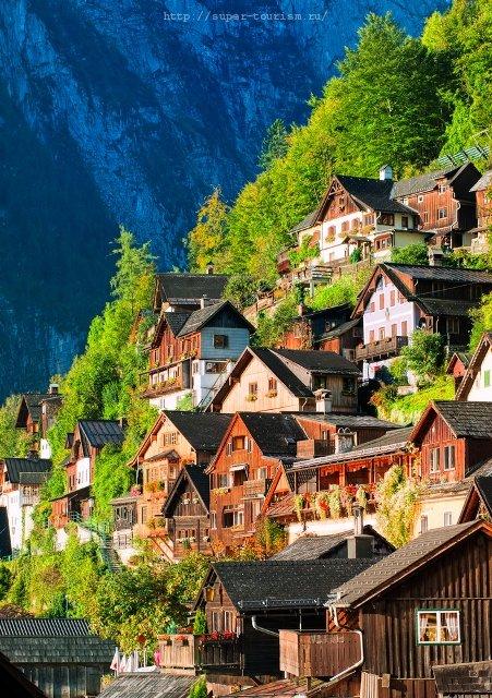 Альпийская деревушка отдых в Австрии