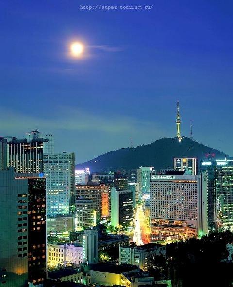 Ночной Сеул отдых в Корее