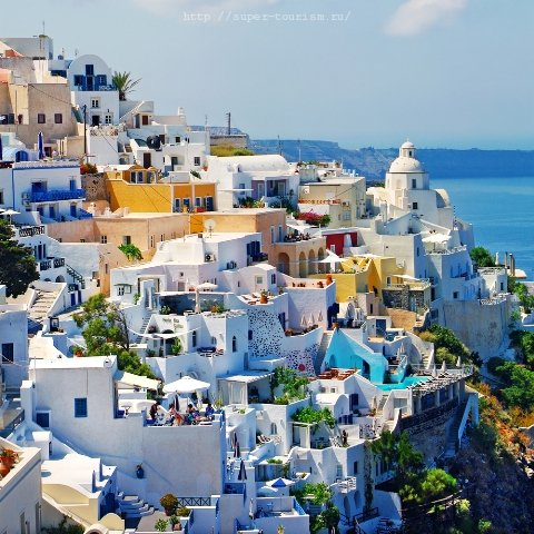 Санторини курорты Греции