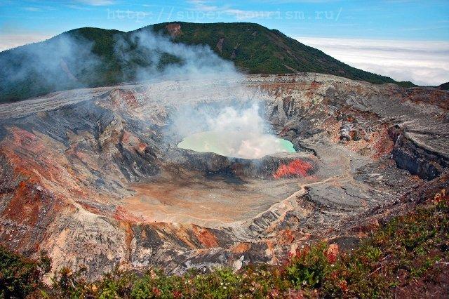 Вулкан Поас Коста-Рика