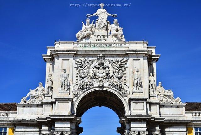 туры в Португалию Арка Августа на Торговой площади, Лиссабон