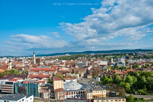 туры в Румынию Клуж, вид с высоты