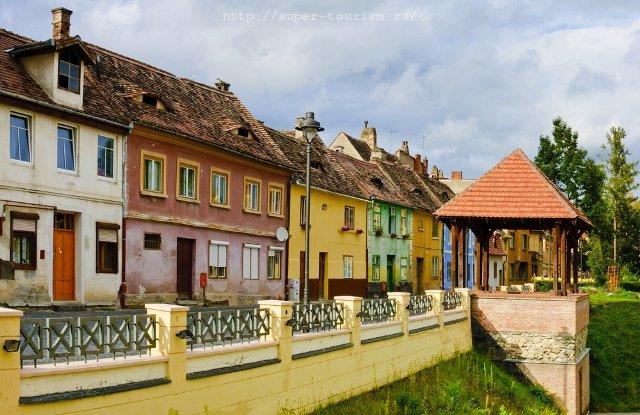 отдых в Румынии Улица в Сибиу, Трансильвания