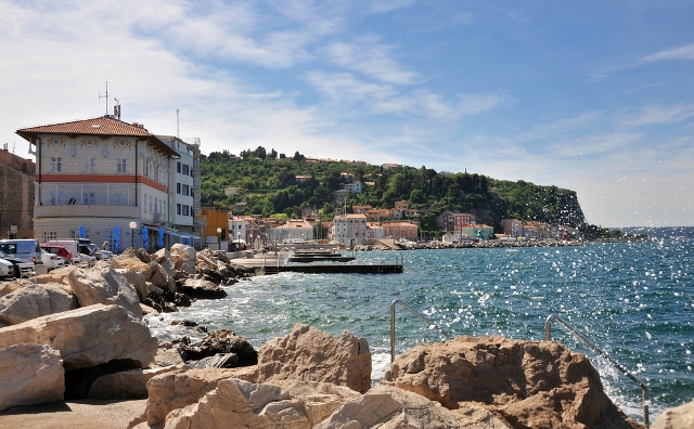 Отдых и путешествие в Словению Пляж Пиран