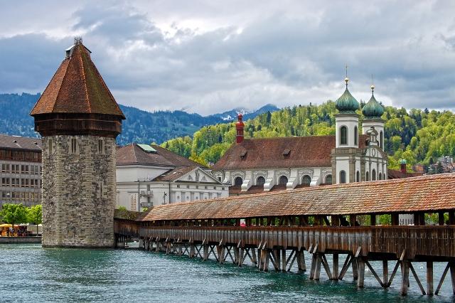 Деревянный мост к часовне, Люцерн