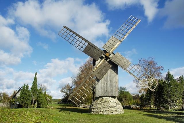 Эстония, Ветряная мельница, остров Сааремаа
