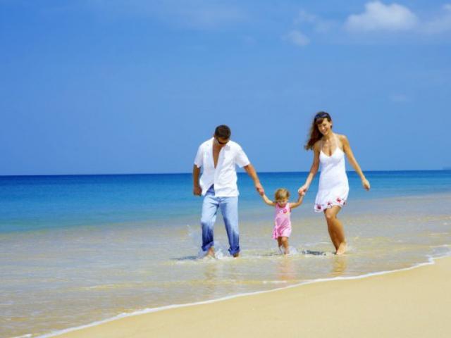 отдых семьей на море